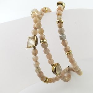 Tai Jewelry Artisan Bracelet Pink Quartz + Stones